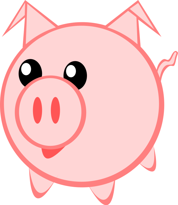 collection of cute. Race clipart pig