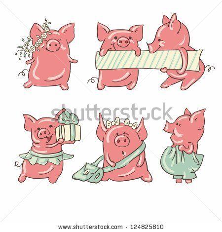 Yvonne on pinterest . Pig clipart six