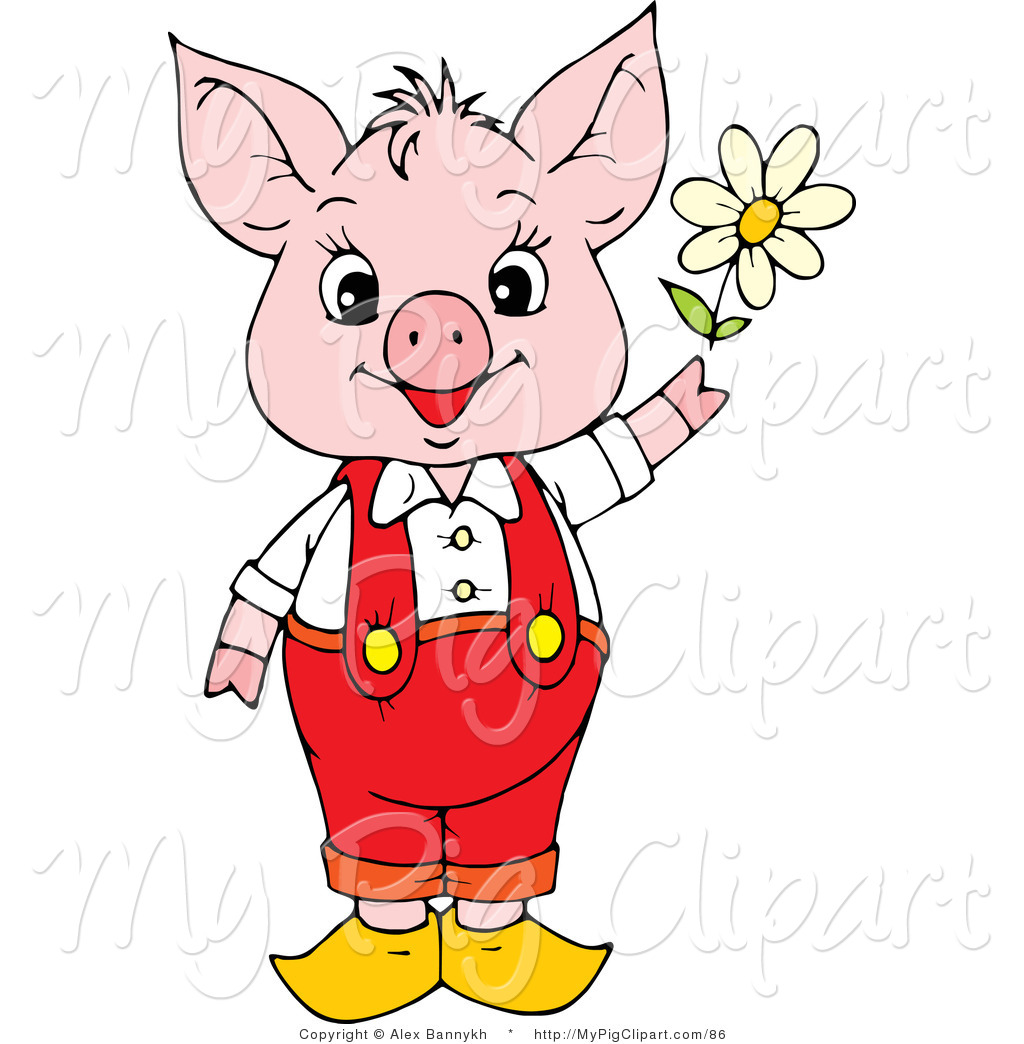 Swine of a cute. Clipart pig spring