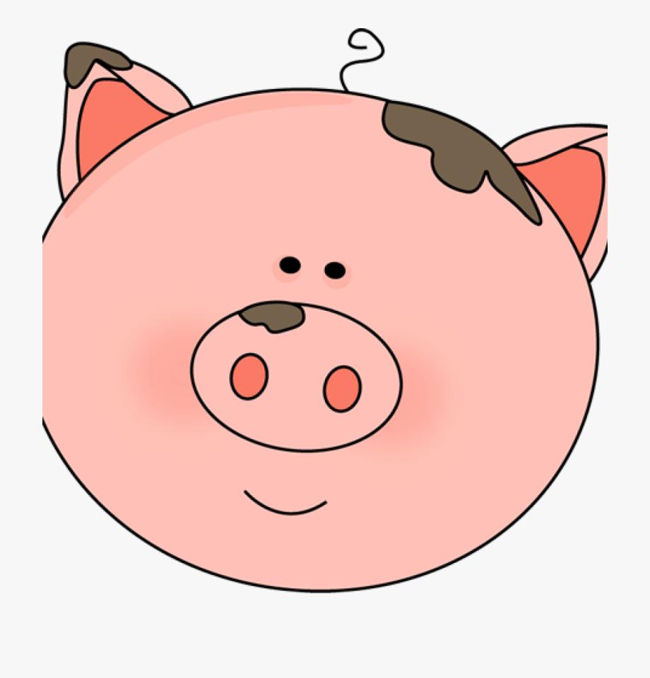 Clipart pig spring. Face farm animal faces