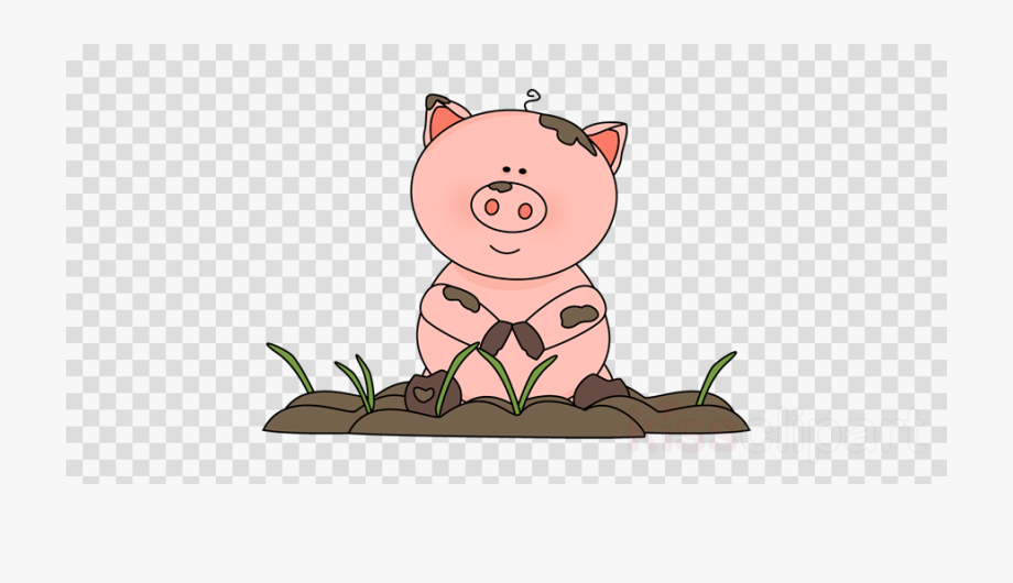 Mud vacation black and. Pig clipart summer