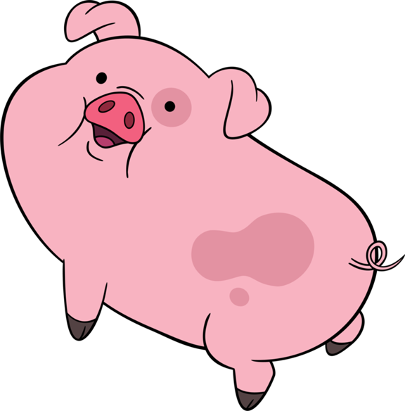 Pig clear background
