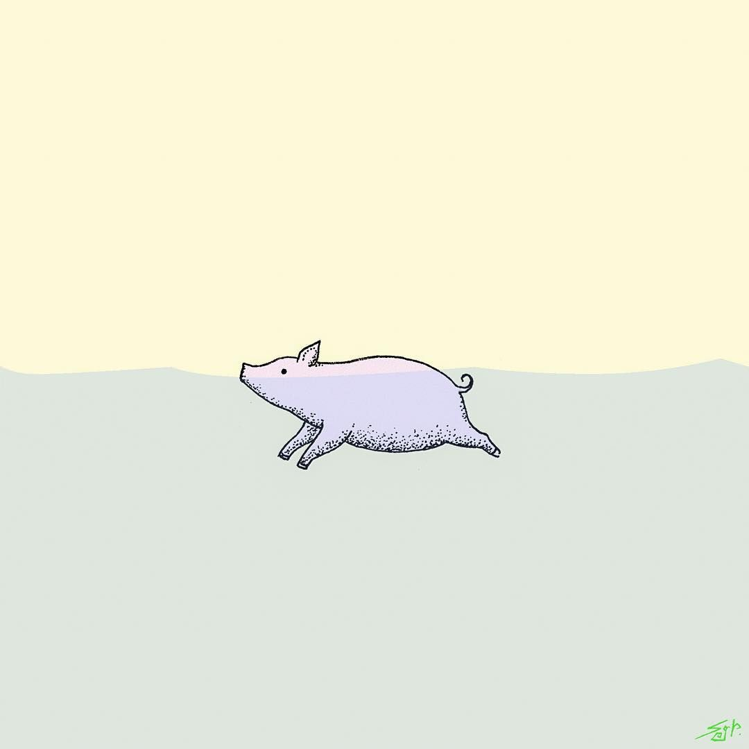 Pin by michelle melvin. Pig clipart swimming