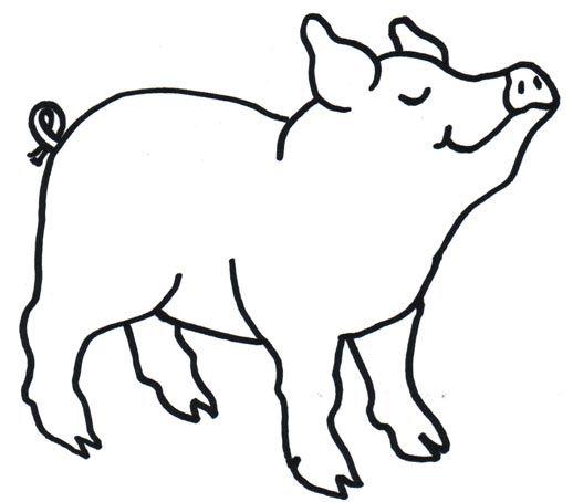 Pig clipart line art. My page seuss farm