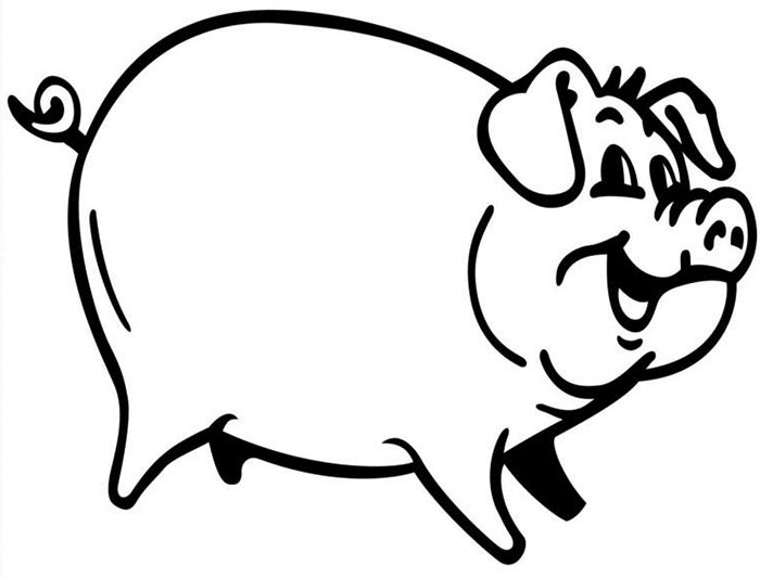 Pigs clipart template. Pig animal templates free