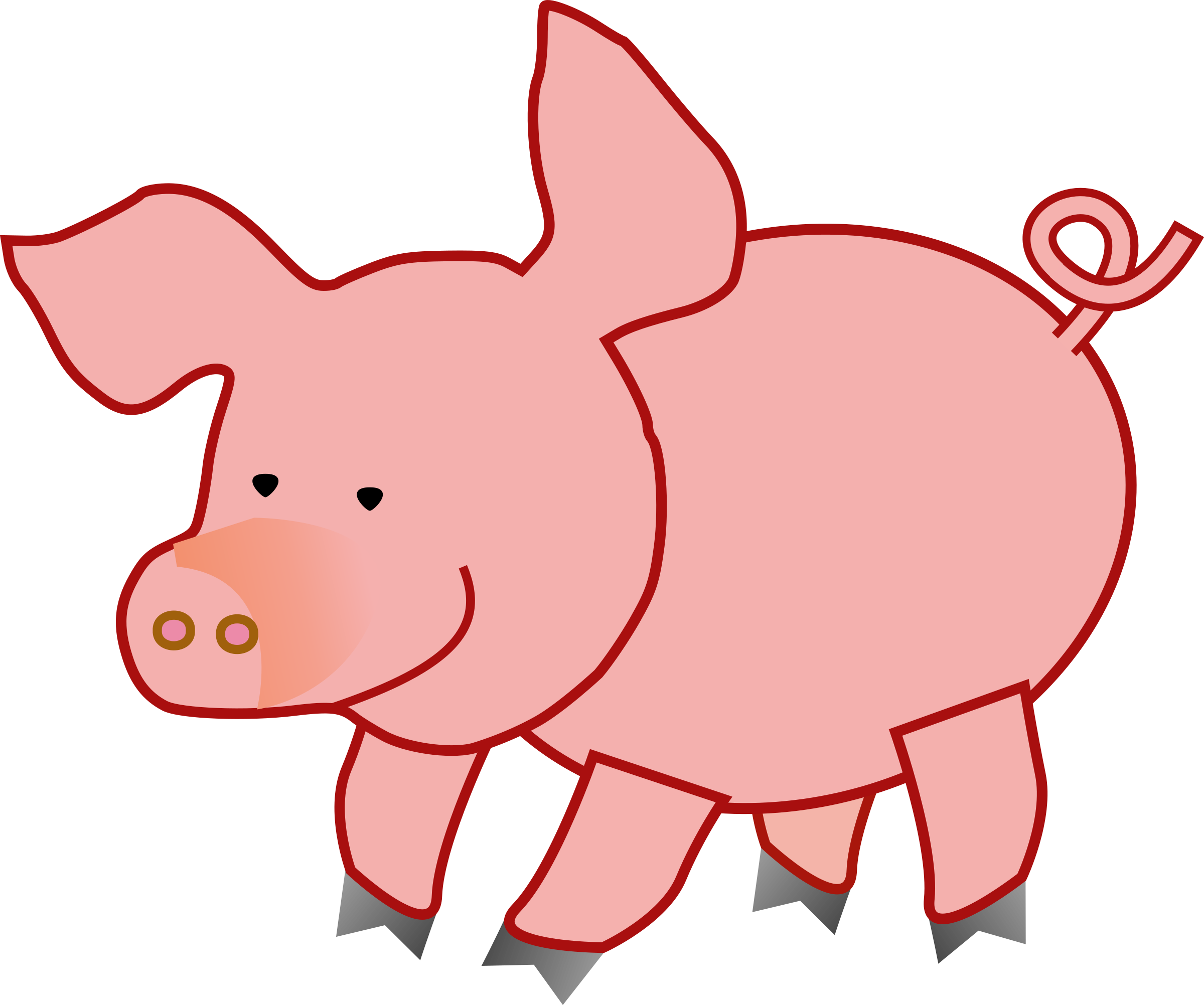 Big image png. Pig clipart template