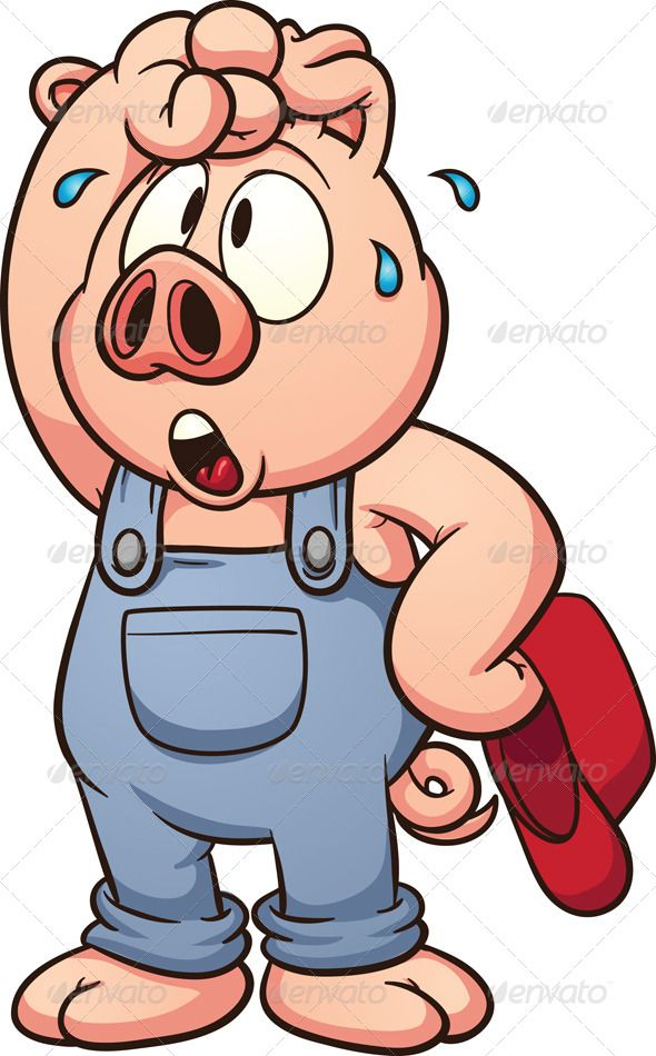 Pig drawings for rocks. Pigs clipart tired