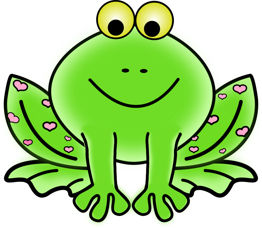 Green valentine frog with. Clipart pig valentines
