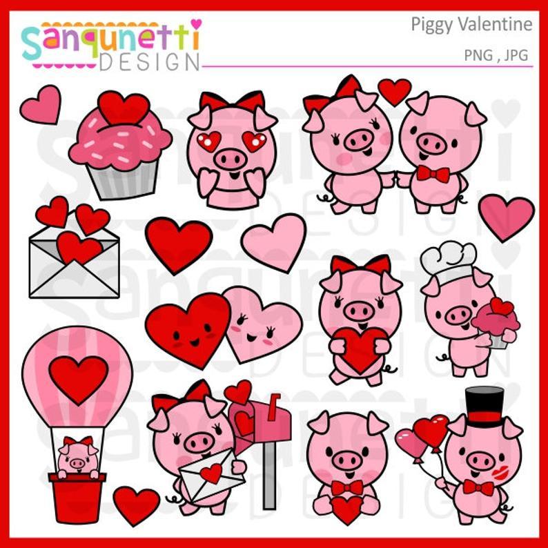 Valentine s day planner. Clipart pig valentines