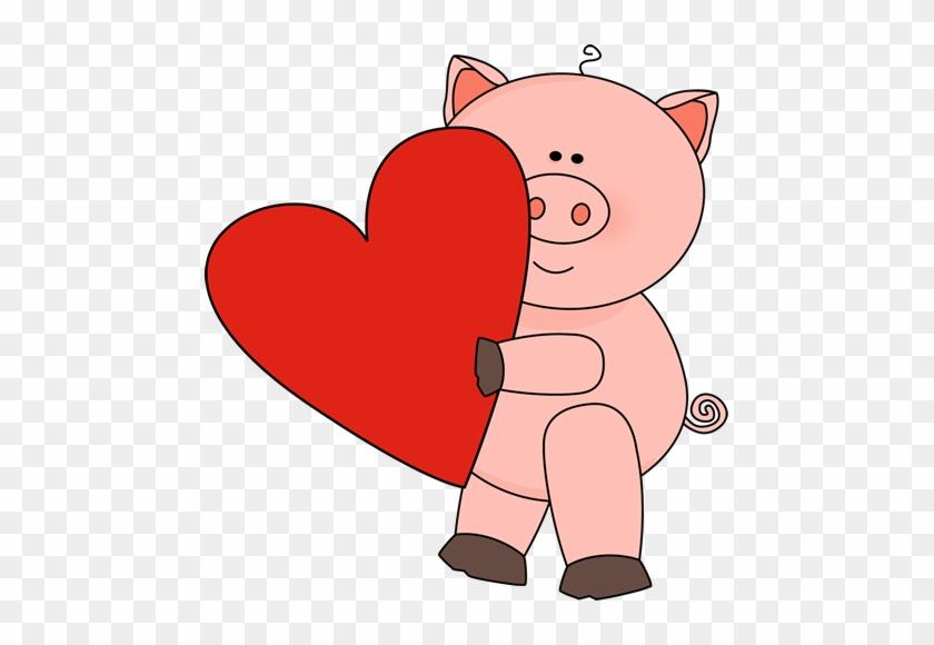 Valentine s day teacher. Clipart pig valentines