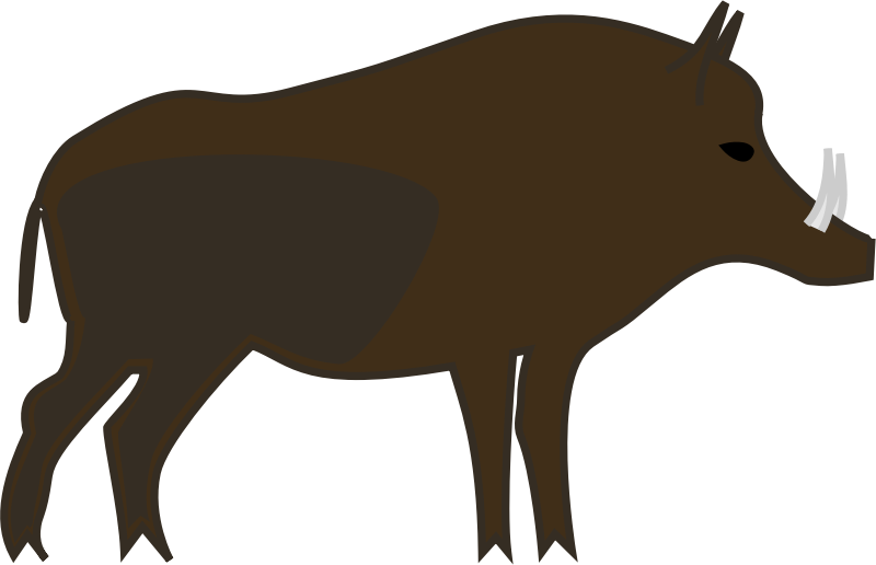 Wild pig silhouette at. Goat clipart boar