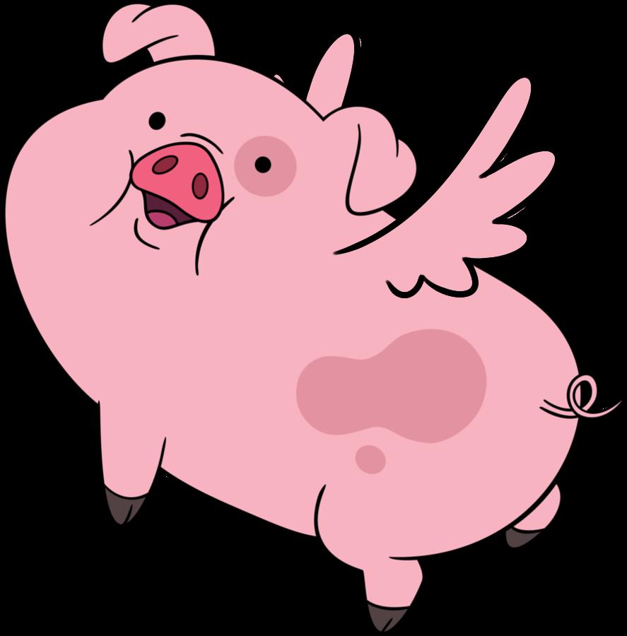 Pigs clipart man. Cerdito volador pinterest famous