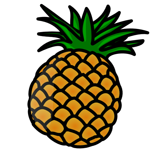 1 clipart pineapple. Panda free images clip