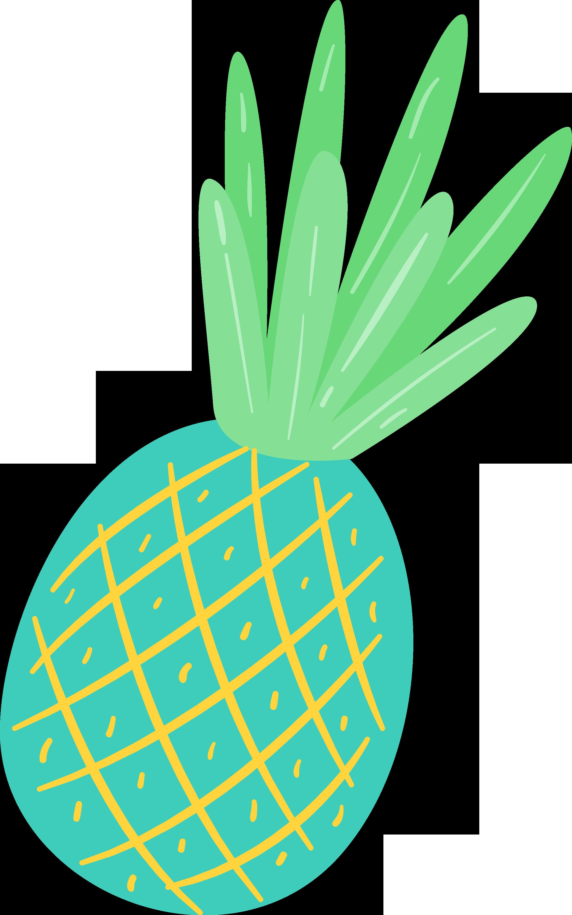 Free summer fun pretty. Pineapple clipart cute