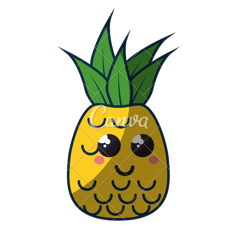 Cute icon photos by. Clipart pineapple adorable