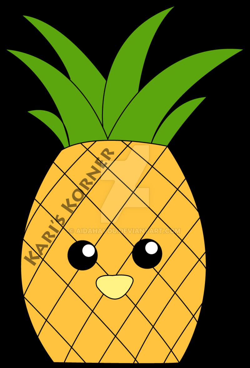Clipart pineapple adorable. Precious by aidahayou on