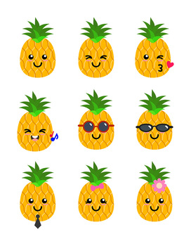 Cute pineapples svg with. Pineapple clipart pineaplle
