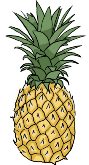 How to draw a. Pineapple clipart drawn
