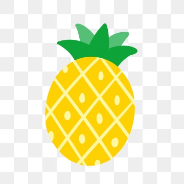 Images png format clip. Pineapple clipart simple