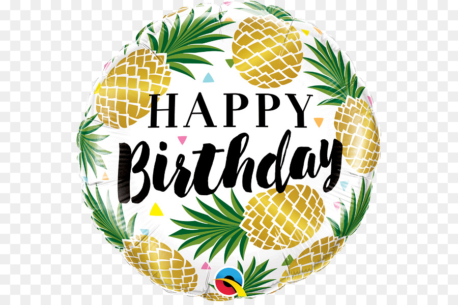 Party background balloon . Pineapple clipart birthday