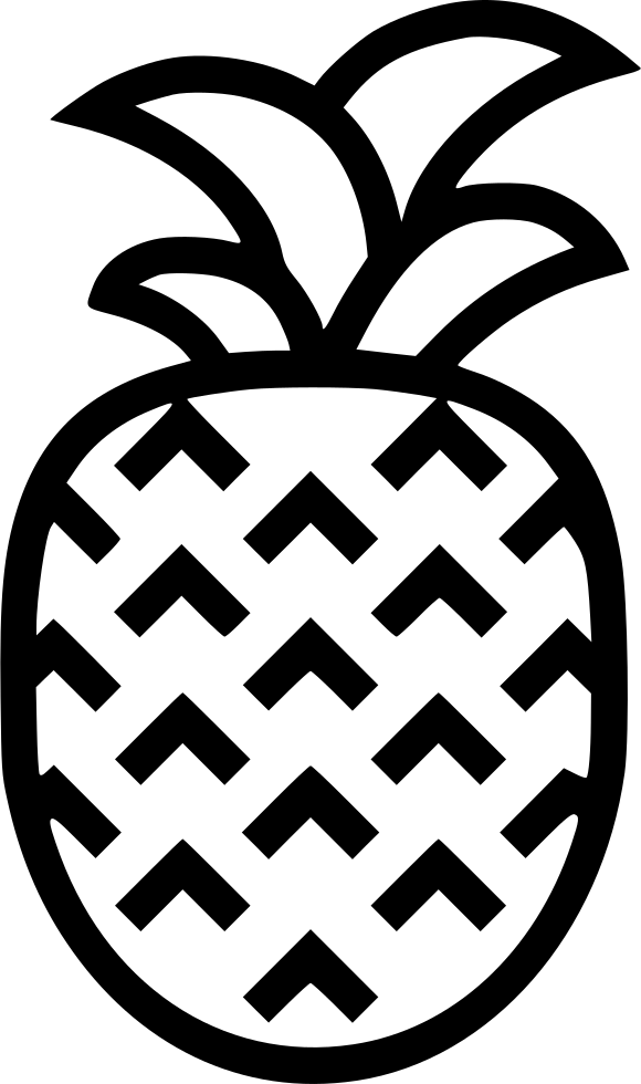 Pineapple clipart symmetrical. Svg png icon free