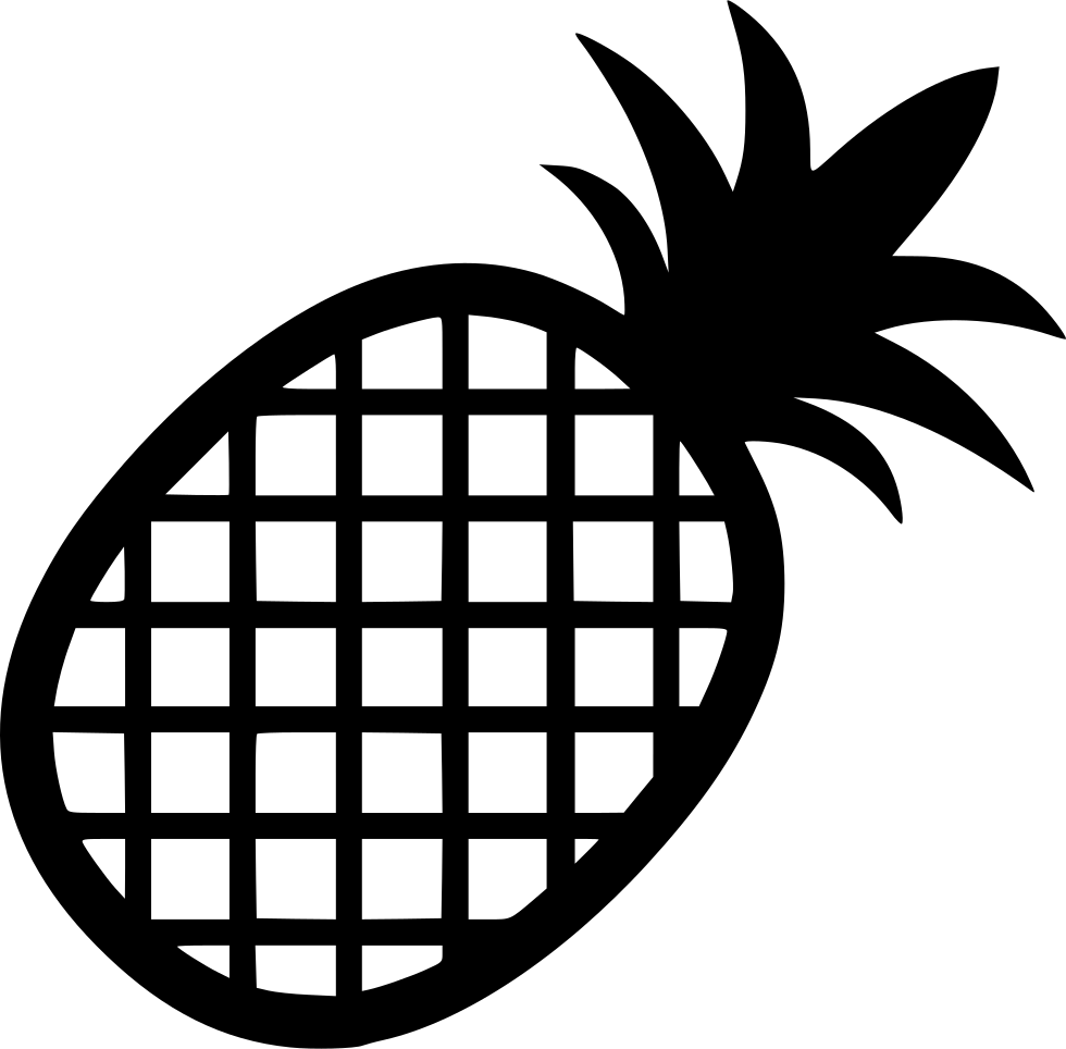 Svg png icon free. Clipart pineapple black and white