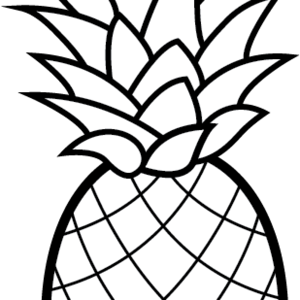 Pineapple clipart black and white. Camping hatenylo com free