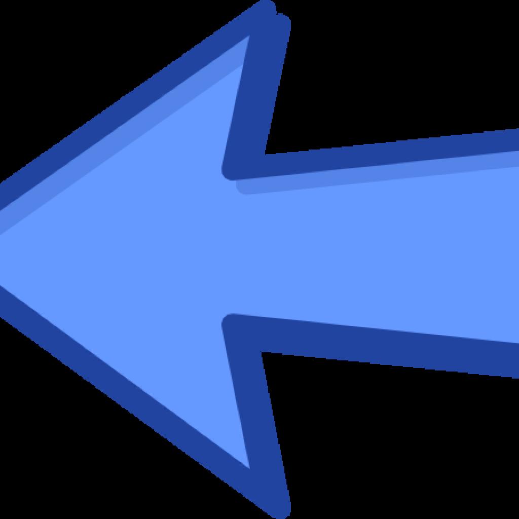 Left arrow clip art. Pineapple clipart blue