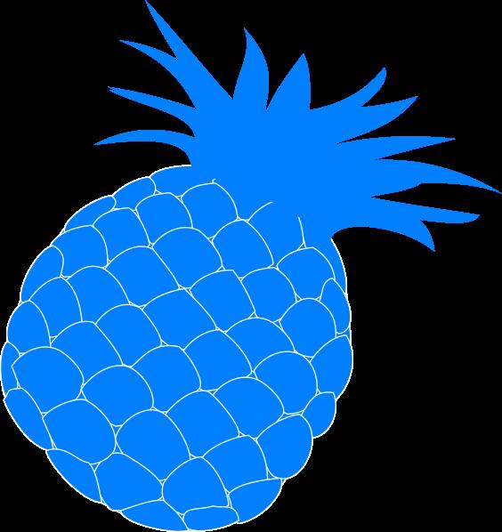 Clip art at clker. Pineapple clipart blue