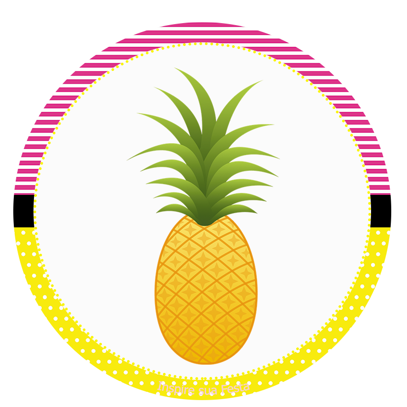 Stock photography textile tiki. Clipart pineapple boarder