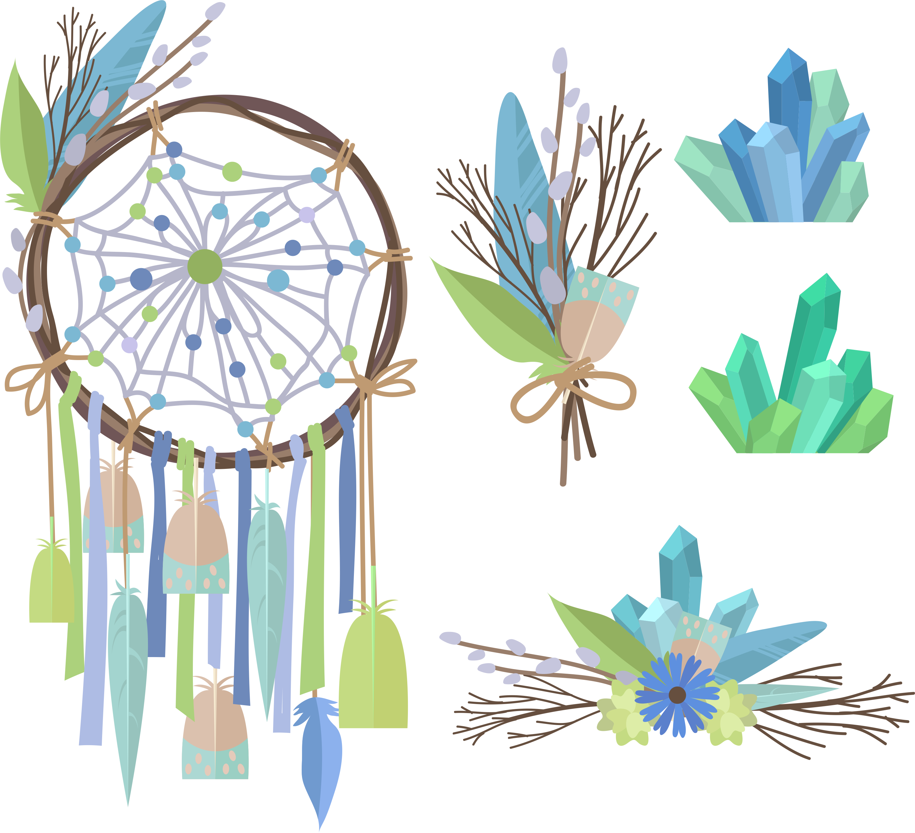 Dreamcatcher chic creative transprent. Pineapple clipart boho