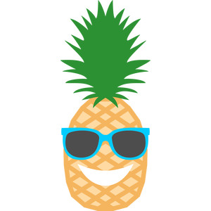 Clipart pineapple boy. Silhouette design store view