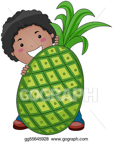 With stock illustration gg. Clipart pineapple boy