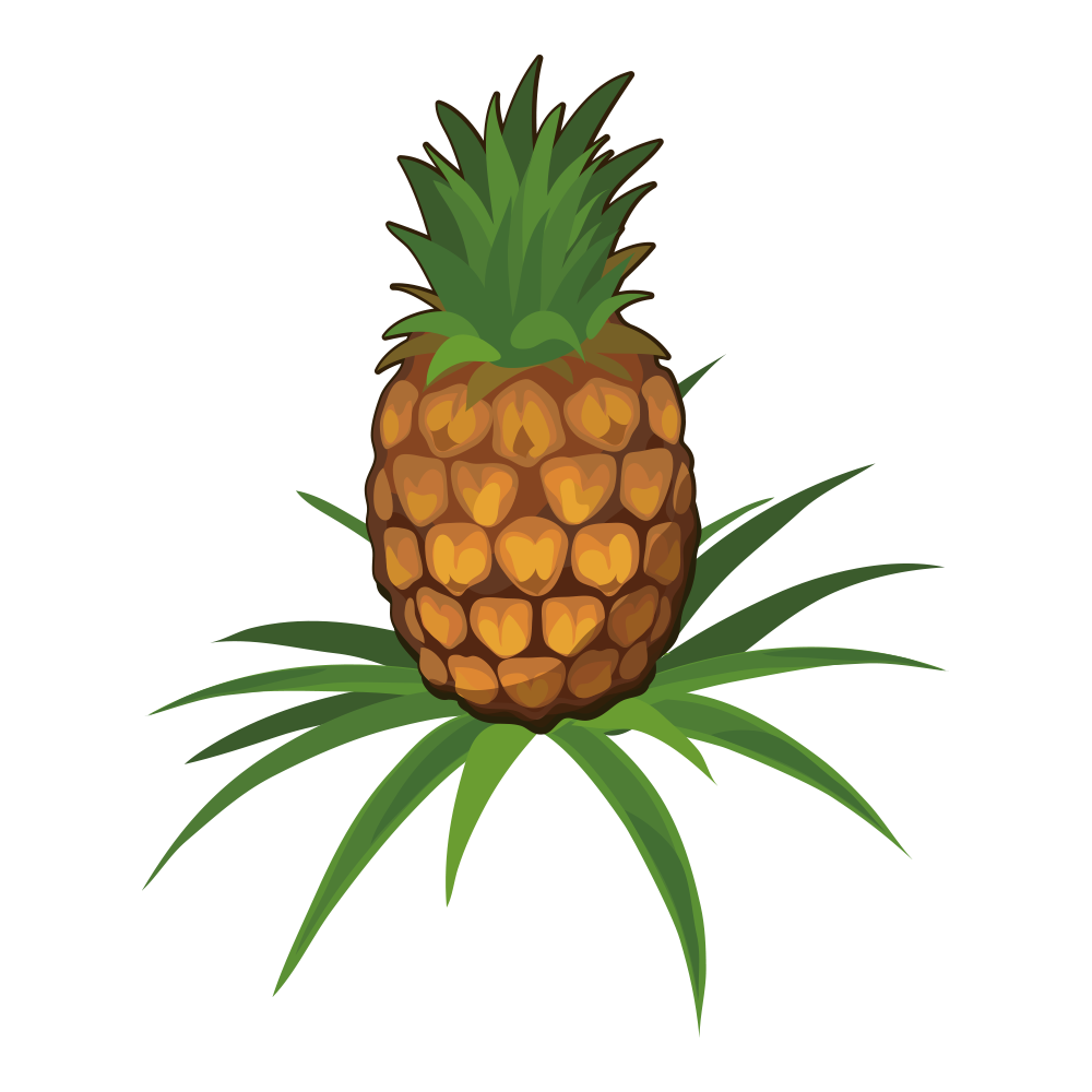 Pineapple clipart character. Juice fruit clip art