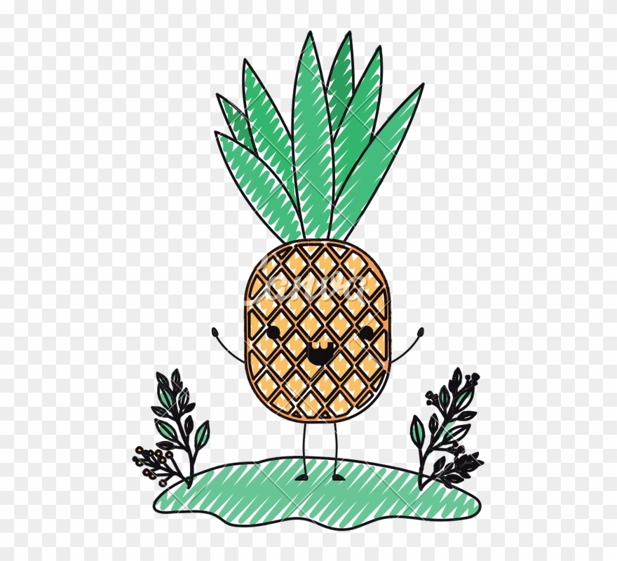 Clipart pineapple character. Png download