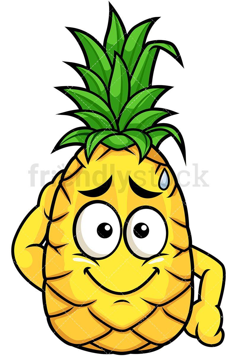 Feeling sorry sr emoji. Clipart pineapple character