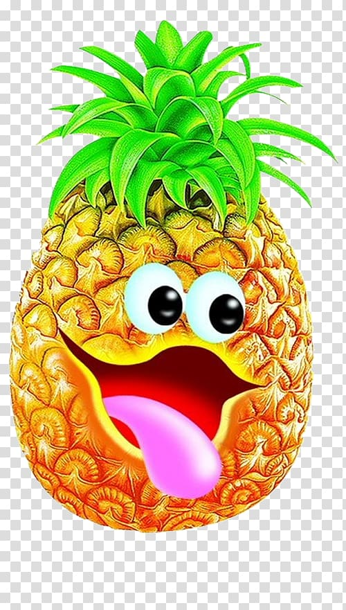 Juice cake bun fruit. Clipart pineapple character