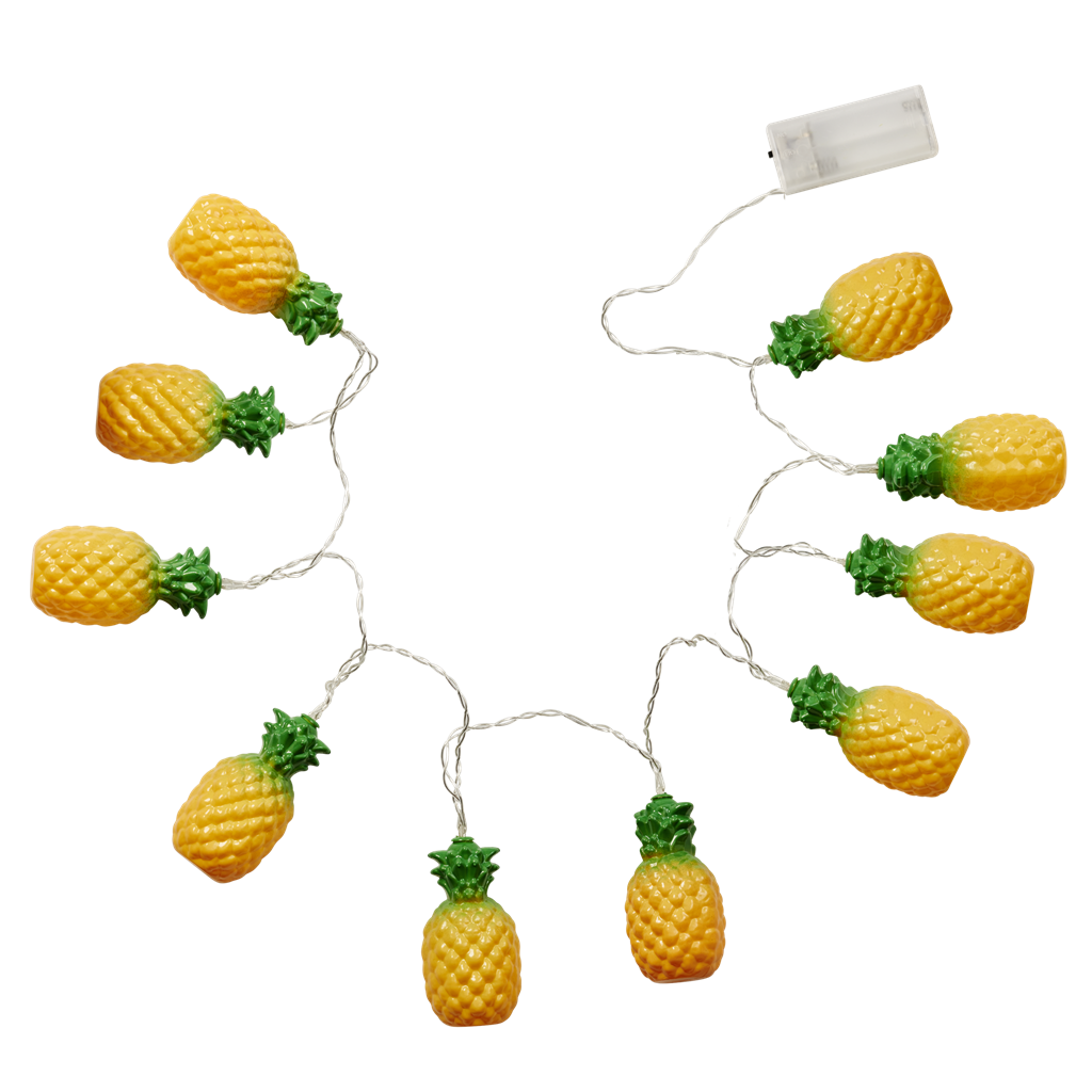 Lemons clipart pineapple. Led string of lights