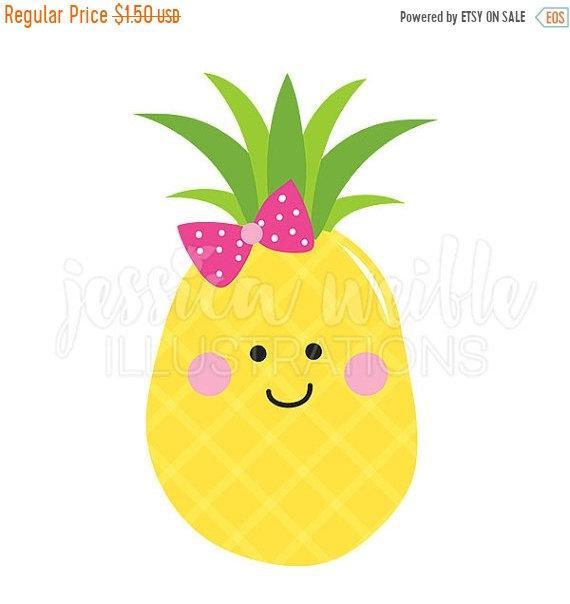 Cutie digital clip art. Clipart pineapple cute