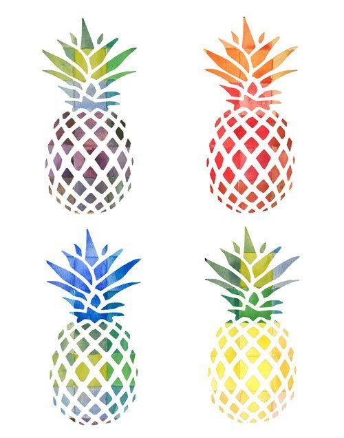 Pin by ashlyn condie. Pineapple clipart watercolor