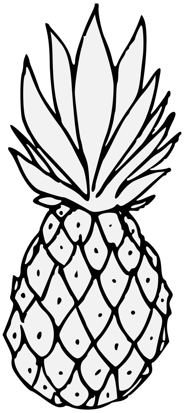 Pineapple clipart black and white.  cool traceable heraldic