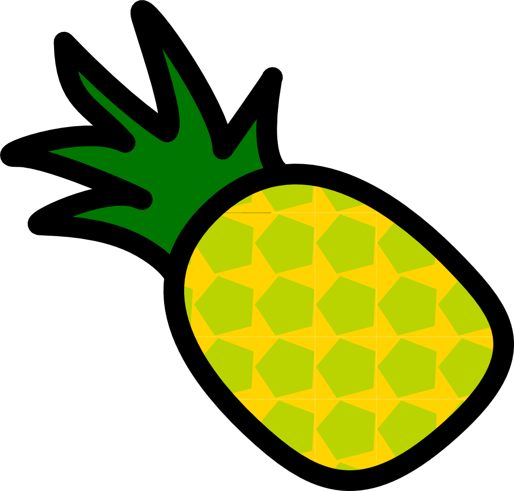 Clipartist net clip art. Pineapple clipart coloured