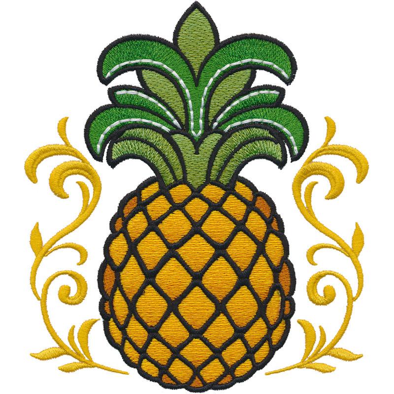 . Pineapple clipart fancy