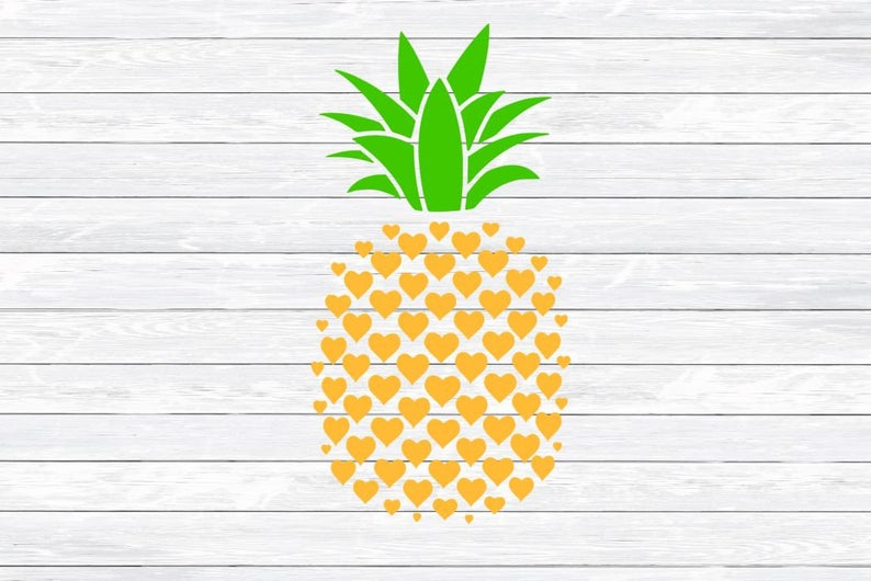 Svg cut summer dxf. Clipart pineapple file