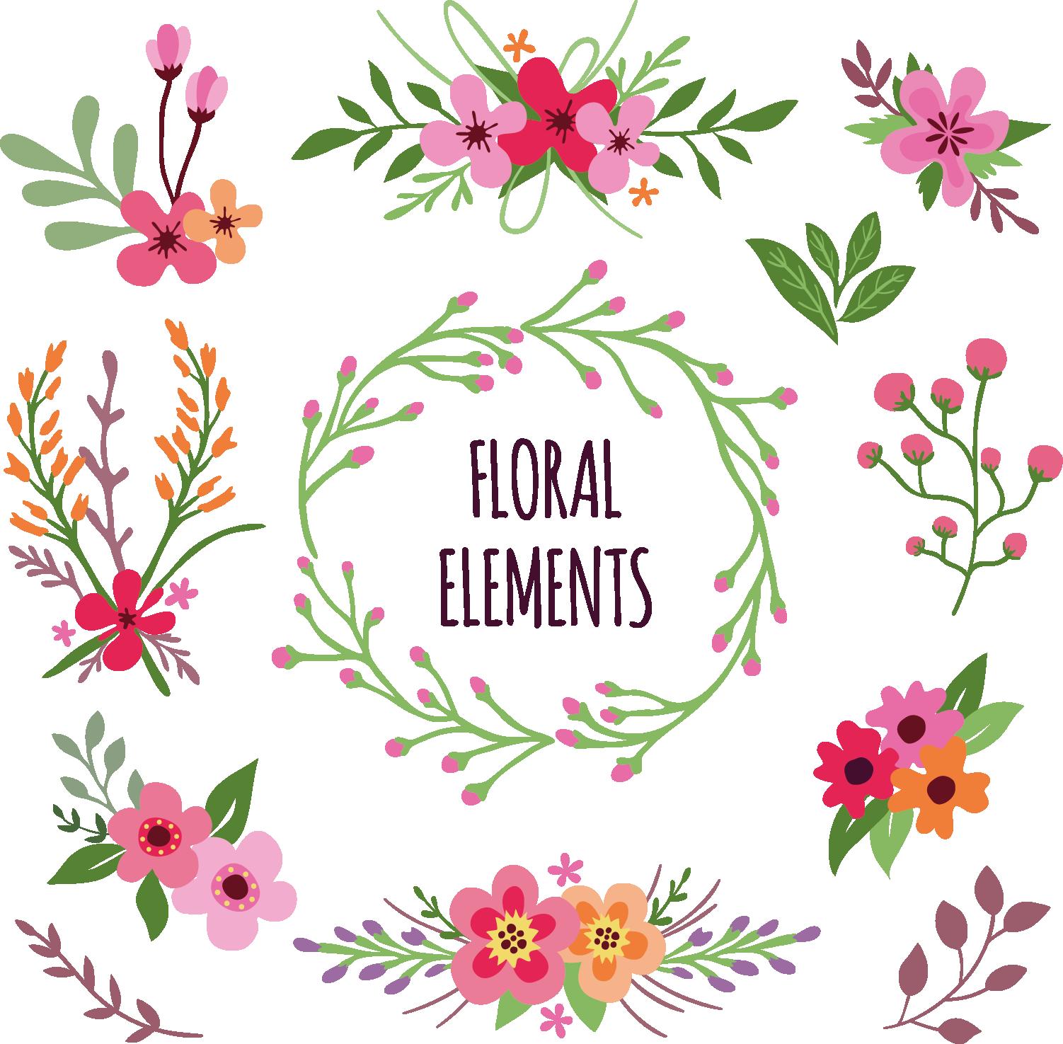 Flower download clip art. Clipart pineapple floral