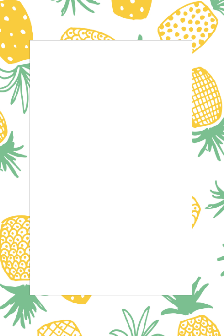 Party prop template postermywall. Pineapple clipart frame