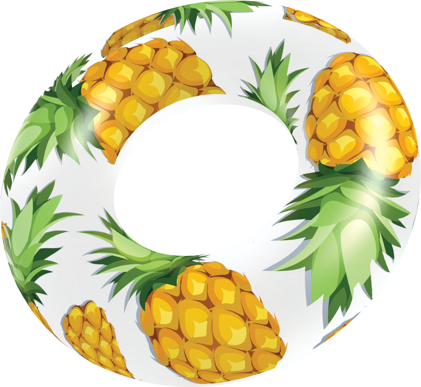 Clear pool tube poolcandy. Pineapple clipart glitter