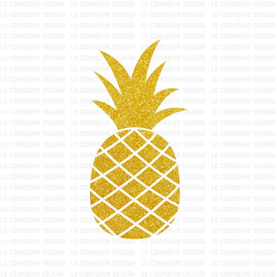 Svg glitter files cricut. Pineapple clipart file