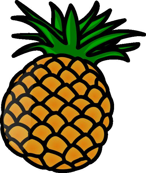 pineapple clipart gold glitter #137862903