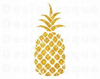 Gold svg sv png. Pineapple clipart glitter